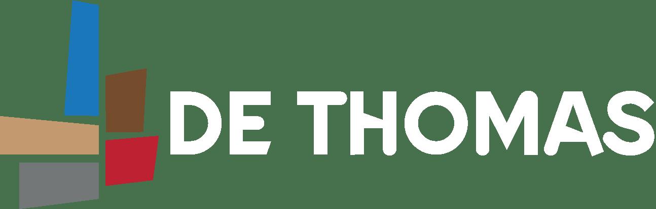 logo de thomas met naam wit